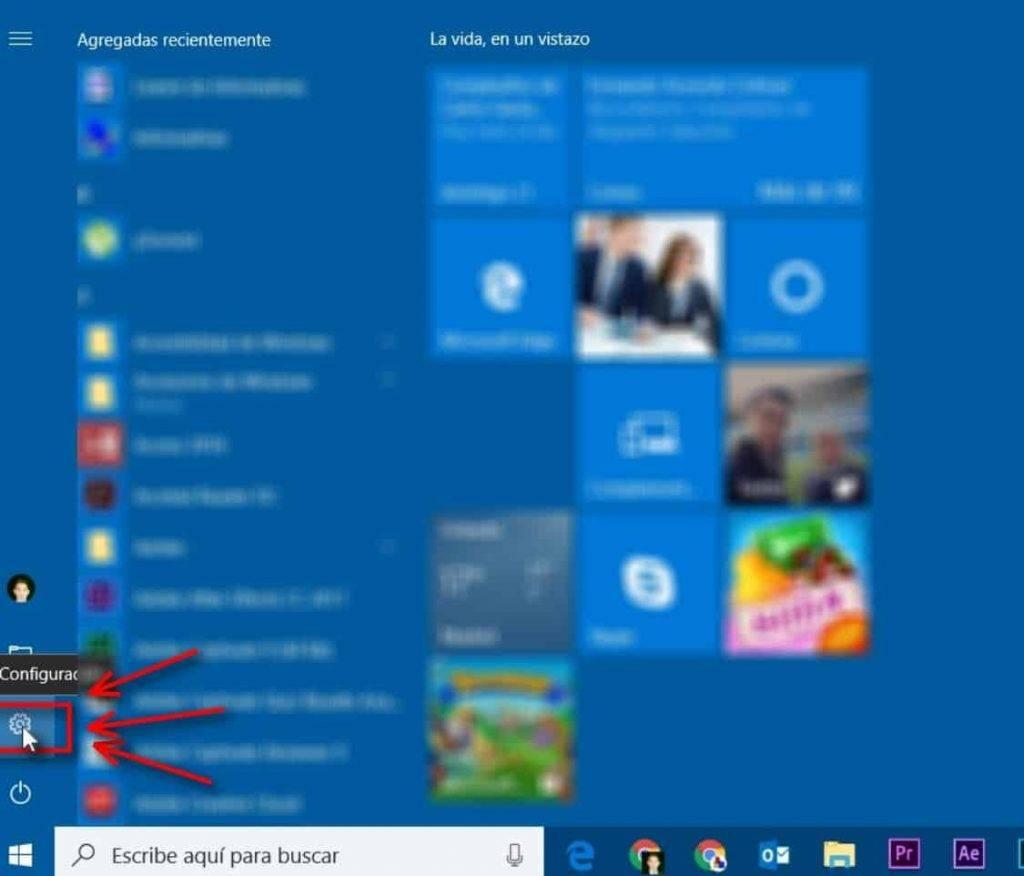 Configuración Windows