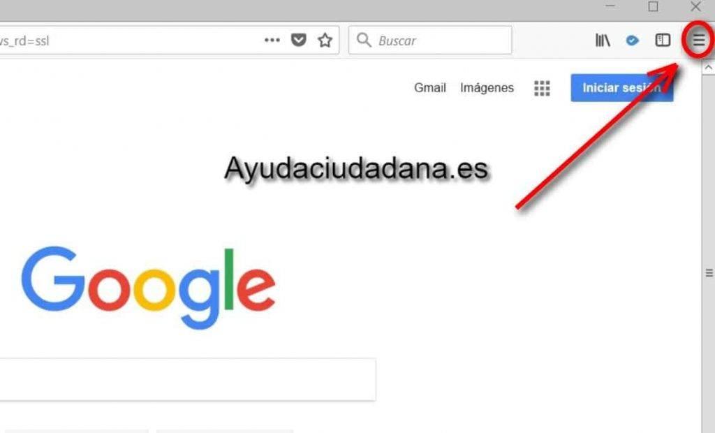 Navegación privada en Mozilla Firefox