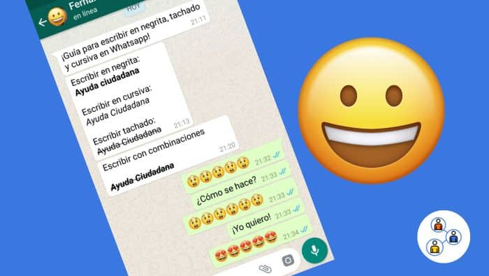 Formatos de texto whatsapp