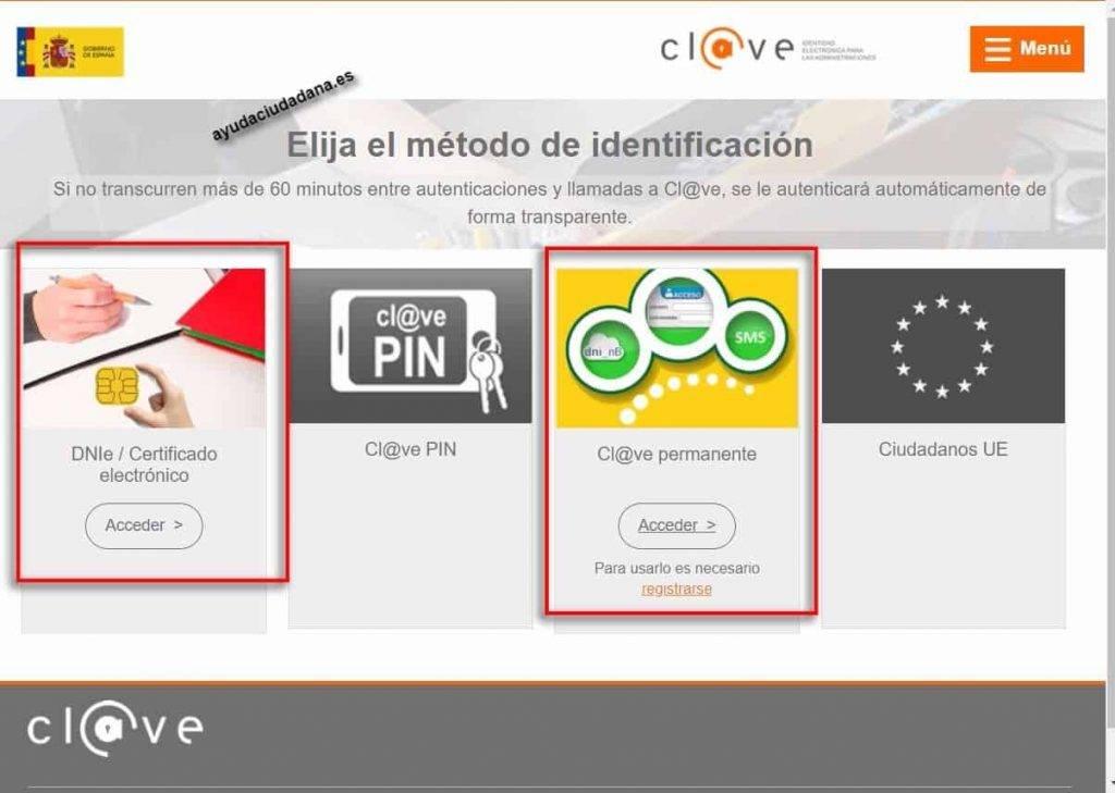 usuario clave acceso certificados seguridad social