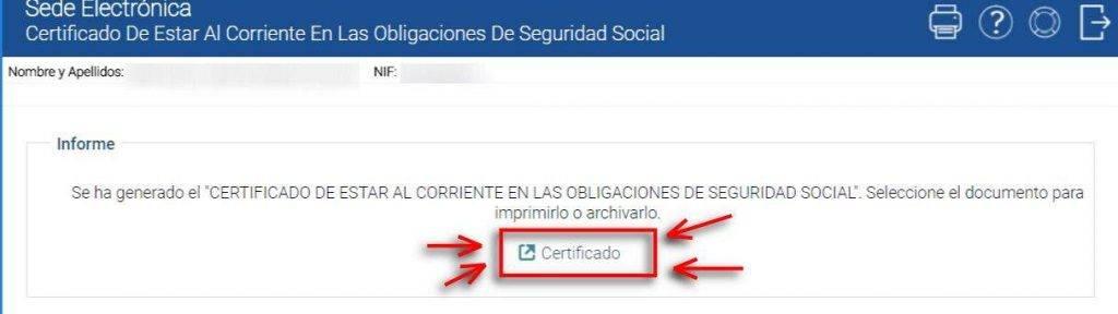 ver certificado seguridad social corriente de pagos