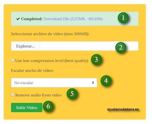 comprimir videos sin perder calidad