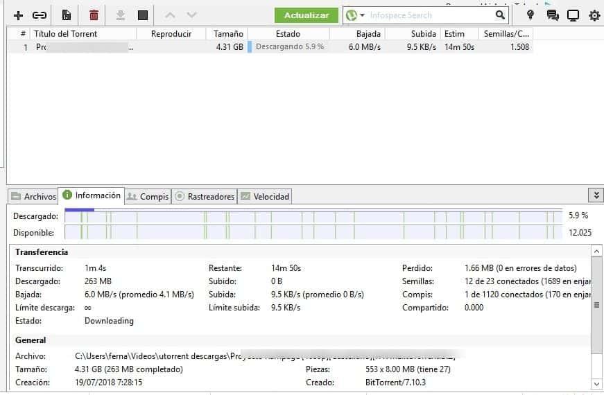 descargas de películas en alta velocidad con uTorrent