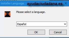 elegir idioma fltv