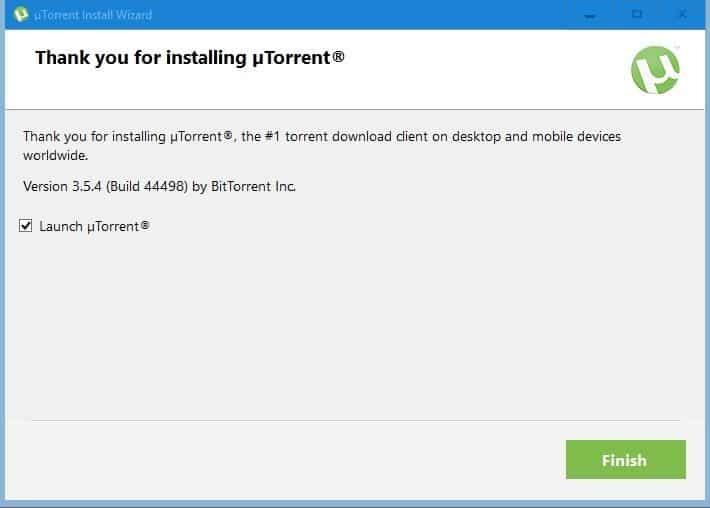 launch uTorrent