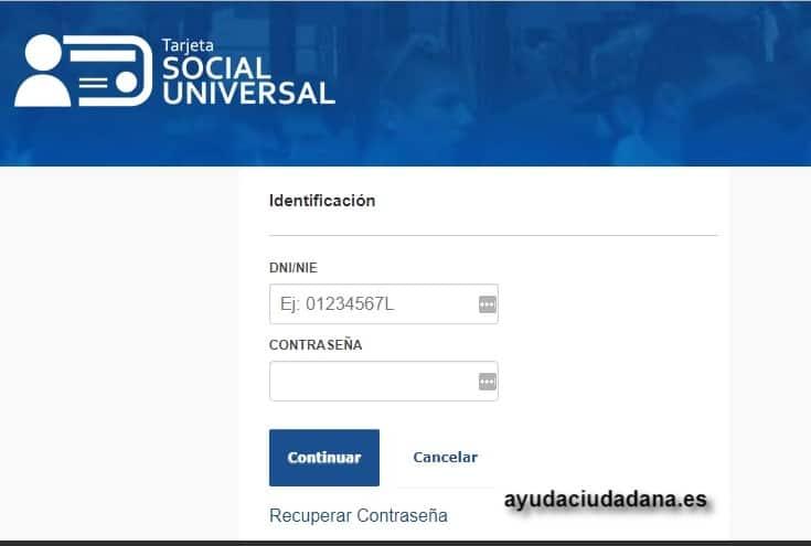 TSU acceso con usuario + contraseña
