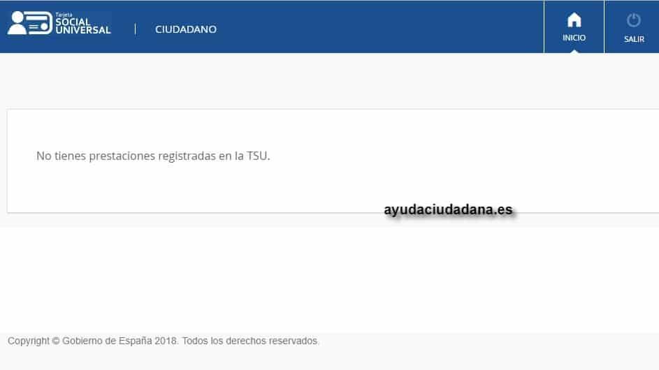 TSU no tienes prestaciones registradas en la TSU