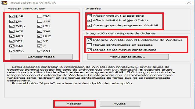 Winrar programa para abrir ficheros en formato RAR