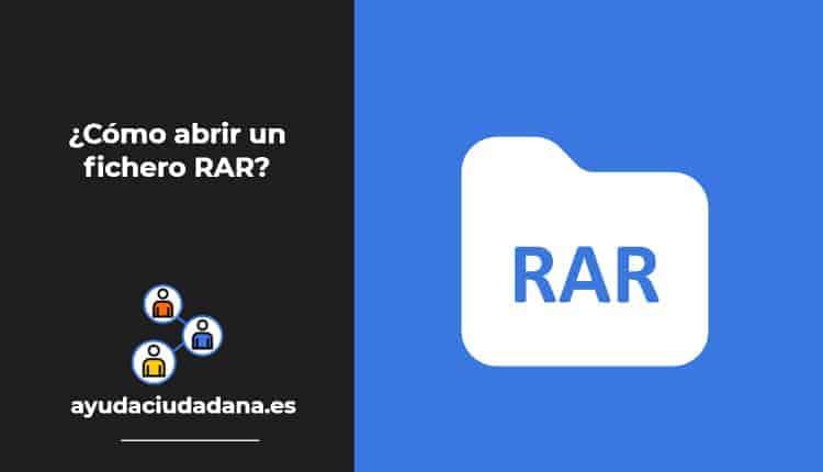 Como abrir un fichero RAR