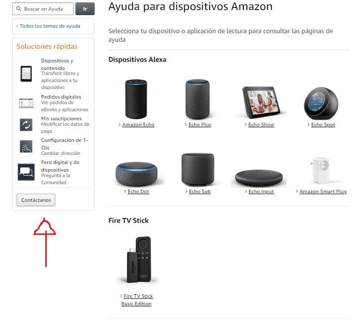 Contáctenos amazon