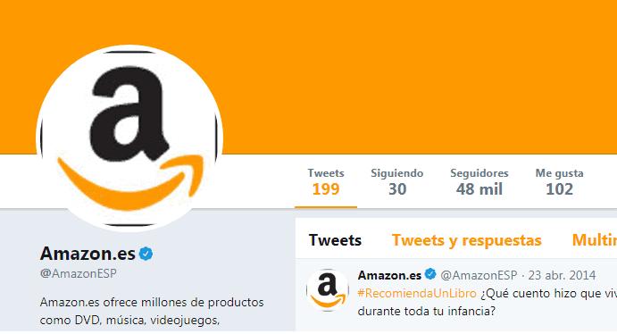 Twitter de soporte Amazon