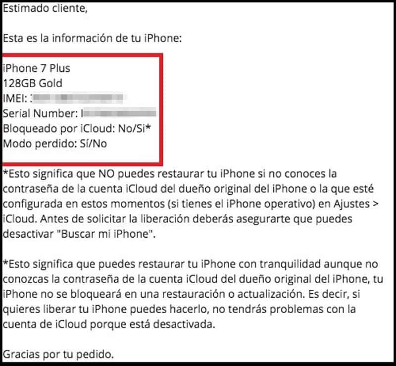¿Cómo bloquear un iPhone usando el código IMEI? 3