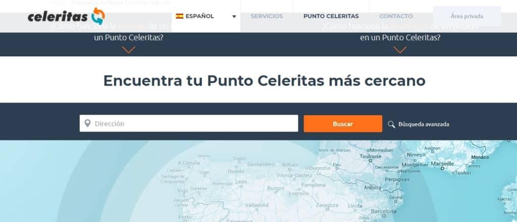 Devolver producto Amazon con celeritas localizar puntos de recogida